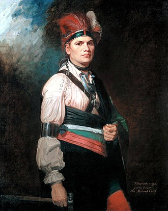 Associators - Joseph Brant, a Native American led Brant's Volunteers an irregular British Loyalist associators unit, of mixed Mohawk Indians and white soldiers raised during the American Revolutionary War who fought on the British side in the Province of New York.