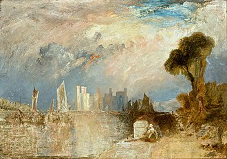 Caernarfon Castle - A painting of Caernarfon by J. M. W. Turner in 1830–1835