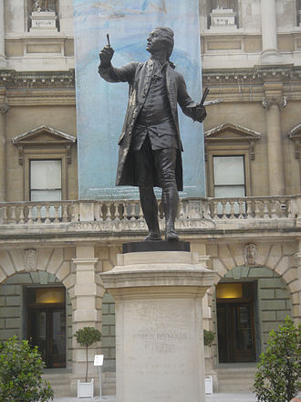 Statue of Joshua Reynolds - The statue in 2007