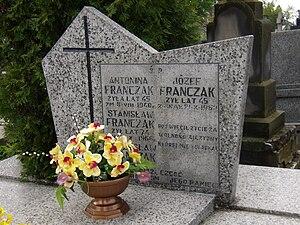 Józef Franczak - Józef Franczak's grave on cemetery in Piaski, Poland, 2008