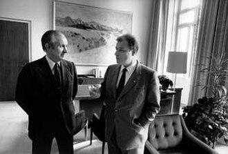 Juan Antonio Samaranch - Samaranch and Jean-Pascal Delamuraz (c. 1982–1984)