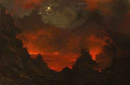 Jules Tavernier's painting 'Full Moon over Kilauea', 1887.jpg