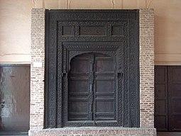 July 9 2005 - The Lahore Fort-A black wooden door.jpg