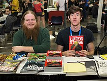 Justin Jordan (left) with Tradd Moore at Stumptown Comics Fest 2013