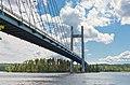 Kärkinen Bridge towards south over Kärkistensalmi in Jyväskylä, Central Finland, 2021 June.jpg
