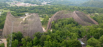 Banshee (roller coaster) - Banshee replaced Son of Beast (pictured) which closed in 2009 before being demolished three years later