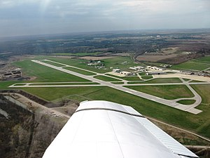 Purdue University Airport - Aerial view, March 2007
