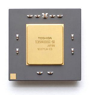 R4000 - A Toshiba R4000 microprocessor.