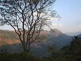 Poonjar Town in Kerala, India