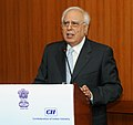 Kapil Sibal delivering the inaugural address at the National Round Table on Govt.-Industry Partnership for setting up theme –based Innovation Institutes, organized by AICTE, in New Delhi on September 24, 2012.jpg