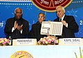 Kapil Sibal releasing a commemorative postal stamp at the concluding function of Diamond Jubilee Year of Employees' State Insurance Corporation, in New Delhi. The Union Finance Minister.jpg