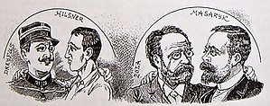 Hilsner Affair - Caricature of the Hilsner Affair, 1900