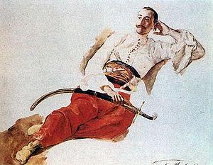 Pyotr Chikhachyov - Portrait of Chikhachyov  by Karl Bryullov (1835)