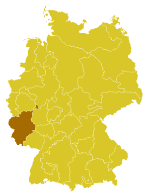 Roman Catholic Diocese of Trier - Image: Karte Bistum Trier