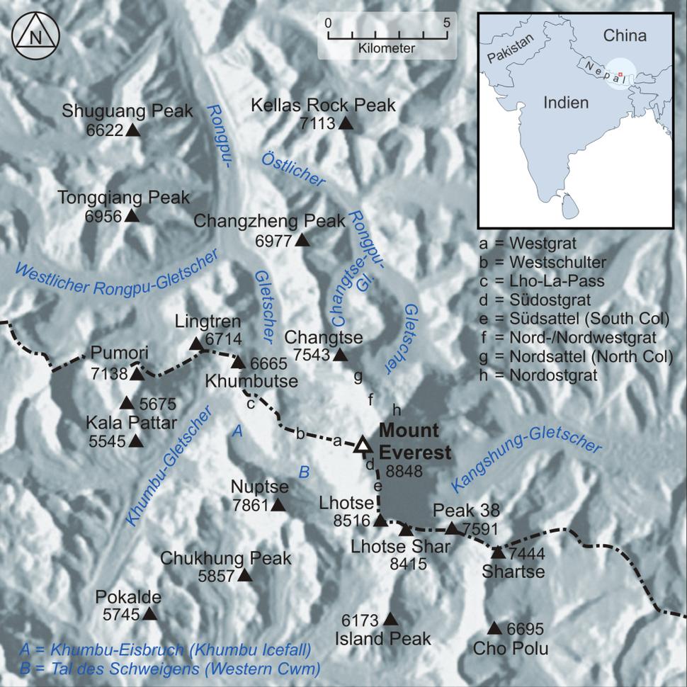 Karte Mount Everest
