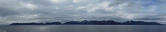 Prince of Wales Island (Alaska) - Panorama of the Kasaan Peninsula on the eastern shore of the island