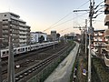 Kashii Line and Kagoshima Main Line on north side of Kashii Station 3.jpg