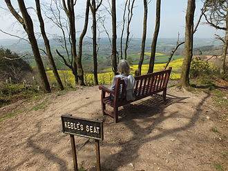 John Keble - Keble's Seat at Bulverton Hill, Sidmouth