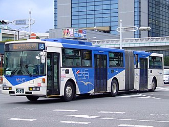 Subaru Corporation - A 7E body articulated bus with Volvo B10M chassis