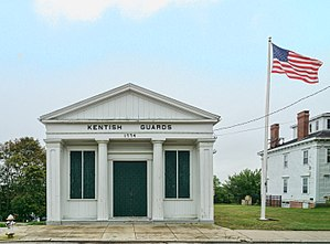 Armory of the Kentish Guards - Image: Kentish Armory, front view, East Greenwich, Rhode Island