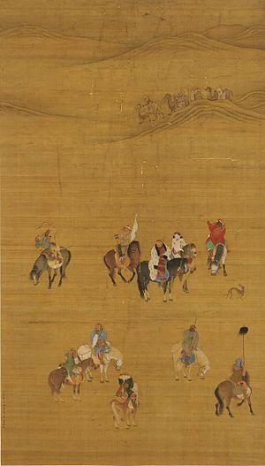 Mongol bow - Image: Khubilai On The Hunt