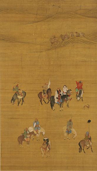 Imperial hunt of the Qing dynasty - Kublai Khan out hunting