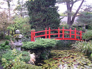 Plans To Build The Bridge In The Japanese Gardens