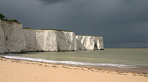 English: View of Kingsgate Bay, Broadstairs, K...