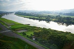 Kitakami River - The Kitakami river flowing through Kitakami, Iwate