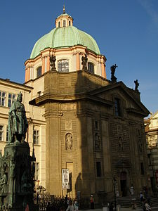 Church of St. Francis  Seraph in the Old Town of Prague by Jean Baptiste Mathey, 1679–1688.