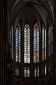 Koeln-Hohe Domkirche St Peter und Maria-Zentrum des Chorobergadens mit Koenigsfenstern-II.jpg