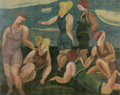 KogaHarue-1923-Women by the Sea.png