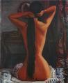 KoideNarashige-1927-Naked Woman Dressing Hair.png