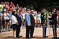 Korean War Veterans Association, Inc. President Larry Kinard and Ambassador of the Republic of Korea Ahn Ho-Young lay a wreath at the Tomb of the Unknown Soldier in Arlington National Cemetery (19843618479).jpg