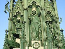 Luise als Genius des Friedens, Nationaldenkmal für die Befreiungskriege, 1820 (Quelle: Wikimedia)