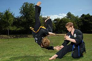 Kuk Sool Won - Kuk Sool Won students practice self defense techniques