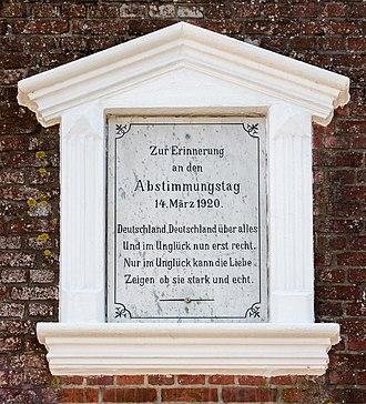 1920 Schleswig plebiscites - Image: Kulturdenkmaeler Wyk Große Straße 006 2016 06 03