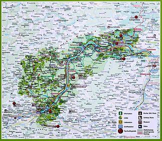 Wachau Karte Donau.Dunkelsteinerwald Wikipedia