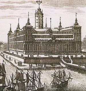 Stockholm Palace - De la Vallée's suggestion from 1654
