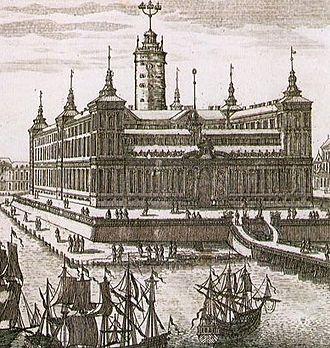 Stockholm Palace - De la Vallée's suggestion from 1654