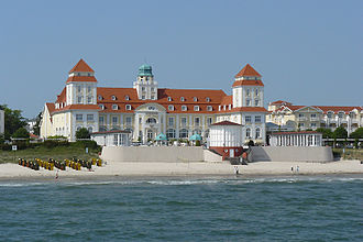 Resort town - Grand Hotel Kurhaus in Resort architecture style, in Binz, Rugia Island (Germany)