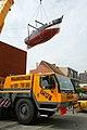 Kustvissersvaartuig OD.1 Martha wordt overgebracht naar het nieuwe Nationaal Visserijmuseum te Oostduinkerke - 373044 - onroerenderfgoed.jpg