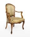 Länstol, 1700-talets mitt - Hallwylska museet - 110043.tif