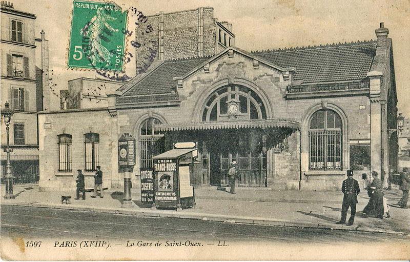 Fichier:LL 1597 - PARIS (XVIII) - La Gare de Saint-Ouen.JPG