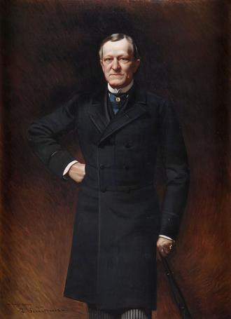 Levi P. Morton - Gubernatorial portrait of Levi P. Morton.