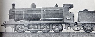 L&YR Class 30 - No. 114 built at Horwich with a cylindrical firebox, longer than the original type