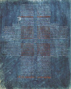 La Cava Bible - Folio 220v of the La Cava Bible