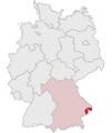 Lage des Landkreises Passau in Deutschland.PNG
