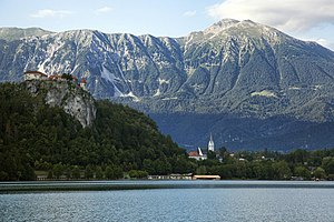 Stol (Karawanks) - Stol massif, view from Lake Bled