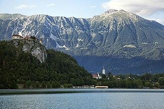 Stol (Karawanks) - Stol massif, view from Lake Bled